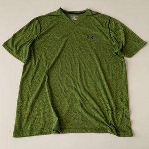 Under Armour heat gear green heathered T-shirt